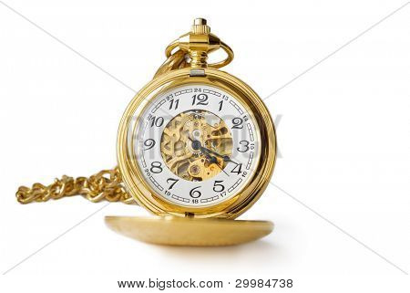 Very old and beautiful pocket clock in gold