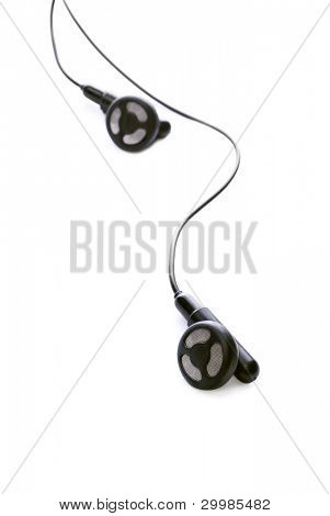 Earphones isolated on a white background
