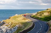 The Eastern Coast Of Northern Ireland And Antrim Coastal Road, A.k.a. Causeway Coastal Route With A  poster