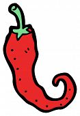 stock photo of chili peppers  - chili pepper cartoon - JPG