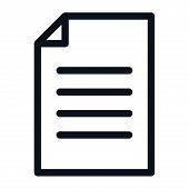 Document Icon Isolated On White Background. Document Icon In Trendy Design Style. Document Vector Ic poster
