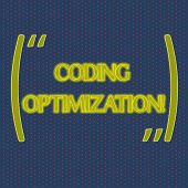Writing Note Showing Coding Optimization. Business Photo Showcasing Method Of Code Modification To I poster