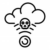 Hacker Attack On The Cloud Icon. Outline Hacker Attack On The Cloud Vector Icon For Web Design Isola poster