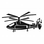 Double Propeller Helicopter Icon. Simple Illustration Of Double Propeller Helicopter Icon For Web De poster