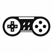 Video Game Joystick Icon. Simple Illustration Of Video Game Joystick Icon For Web Design Isolated On poster