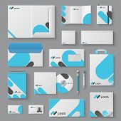 Corporate Brand Identity. Business Stationery Mockup Branding Envelope Card Mug Document Presentatio poster