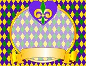 Mardi Gras background design with place for text