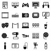 Interesting Show Icons Set. Simple Set Of 25 Interesting Show Icons For Web Isolated On White Backgr poster