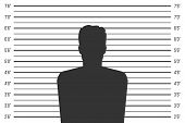 Creative Vector Illustration Of Police Lineup, Mugshot Template With A Table Isolated On Transparent poster