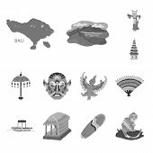 Vector Illustration Of Asian And Geography Sign. Set Of Asian And Tourism Stock Symbol For Web. poster
