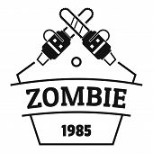 Zombie Attack Logo. Simple Illustration Of Zombie Attack Logo For Web poster