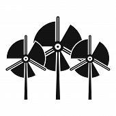 Propeller Wind Turbine Icon. Simple Illustration Of Propeller Wind Turbine Icon For Web Design Isola poster