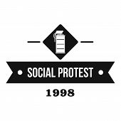 Protester Gas Grenade Logo. Simple Illustration Of Protester Gas Grenade Logo For Web poster