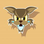 Paper Sticker On Theme Angry Cat Animal poster