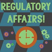 Word Writing Text Regulatory Affairs. Business Concept For The Desire Of Governments To Protect Publ poster