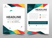 Colorful Polygonal Annual Report Brochure Design Template Vector. Business Flyers Magazine Poster.ab poster