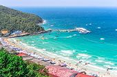 Tourist Beaches Of Thailand. Top-rated Beaches In Thailand. The Soft White Sand On The Beach Is Only poster