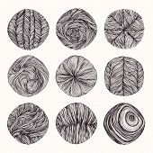 Hand Drawn Braid, Wavy Linear Textures Made With Ink. Graphic Design Template Collection. Swirl, Cur poster