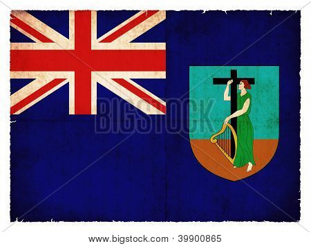 Bandera de grunge de Monserrat (territorio británico de ultramar)