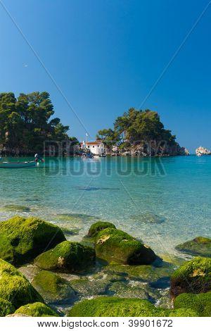 Panagia island in Parga Greece