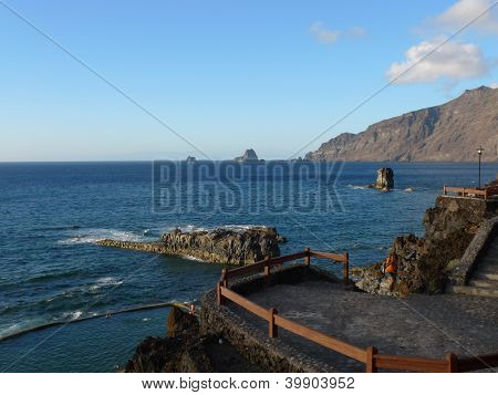 terrace on the coast at el hierro