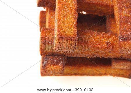 Well-built Croutons Closeup