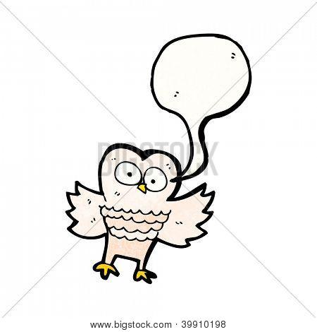 cartoon owl hooting