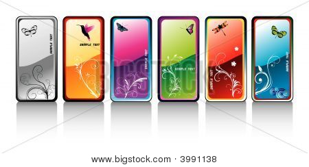 Colors Glossy Banners Vector