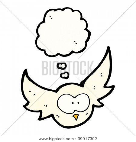 cartoon swooping owl