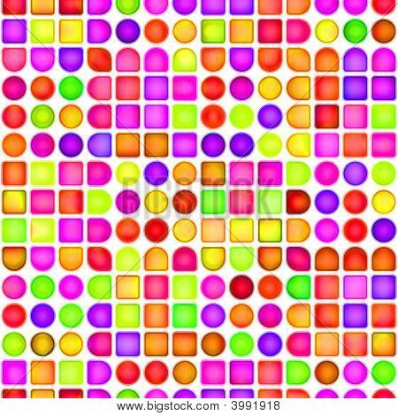 Dots And Cubes Pattern