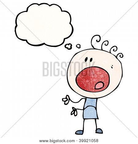 cartoon complaining doodle boy