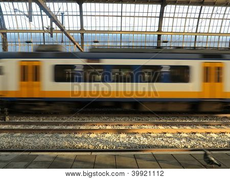 Dutch Train In Motion