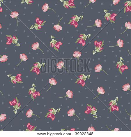 tiny roses seamless background