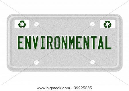 Environmental Car  License Plate