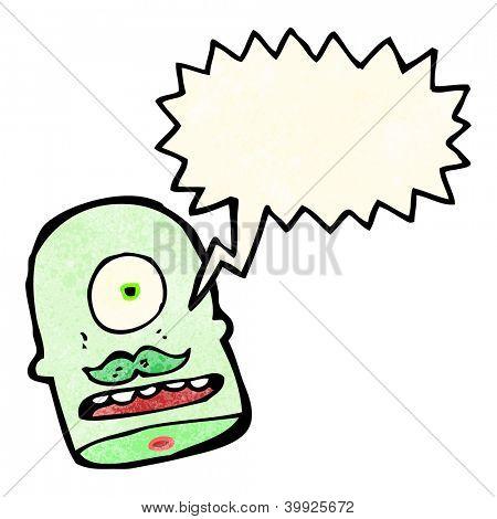 cabeza de ogro de dibujos animados