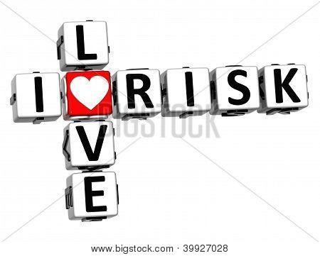 3D I Love Risk Crossword