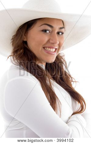 Attractive Female Posing In Hat