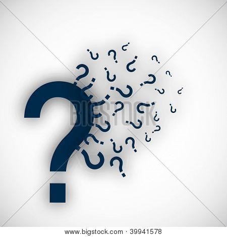 Question mark icon design. EPS 10.
