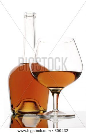 Brandy Glass And Bottle