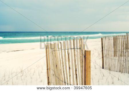 Soft Impressionistic Beach Scene