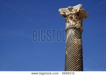 Detail Of A Roman Column