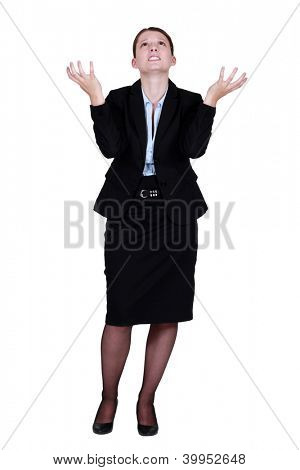 Annoyed businesswoman