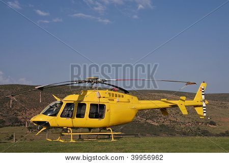 Yellow Fire Brigade Helicopter