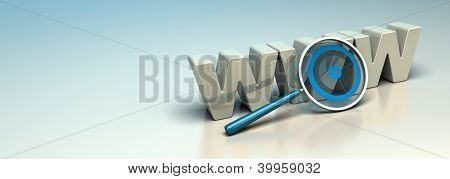 Web Search Engine, Internet SEO Concept, Web Analysis