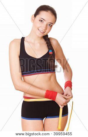 Woman Measuring Hips