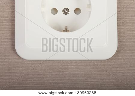 White outlet on textured background