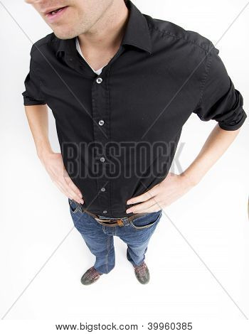 Low section of man in casuals