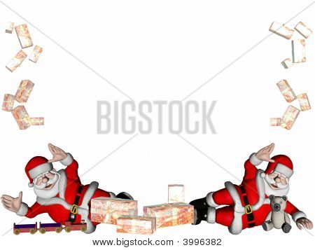 Santas With Gifts