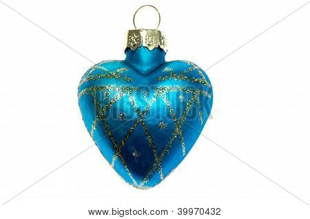 Christmas Toy Blue Heart.