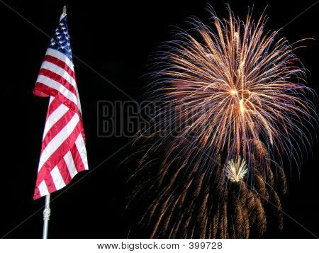 Flag Fireworks 2